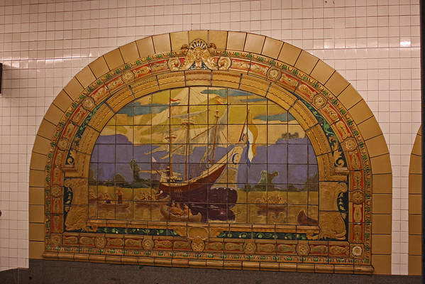 NY Subway - Fulton-Broadway-Nassau - Marine Grill murals
