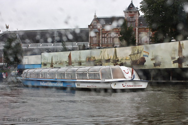 Amsterdam canal tour boat