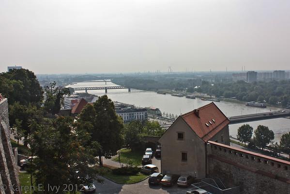 The Danube, from Bratislava Castle