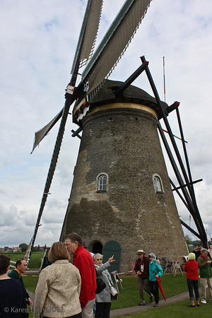 Mill with sails up