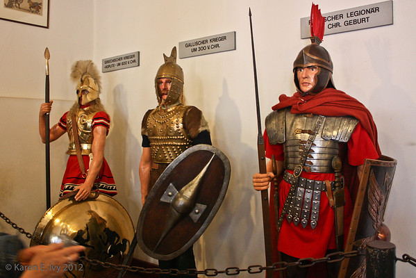 Early armor including Roman