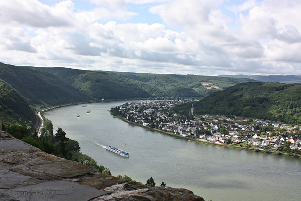 The Rhine, from Marksburg walls