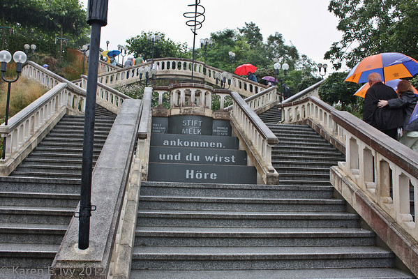 Staircase with motto