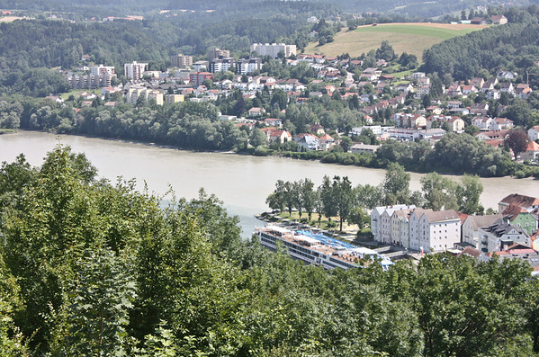 Confluence, Danube and Inn Rivers