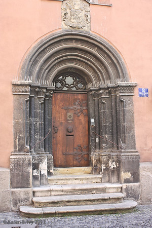 13th century abbey door