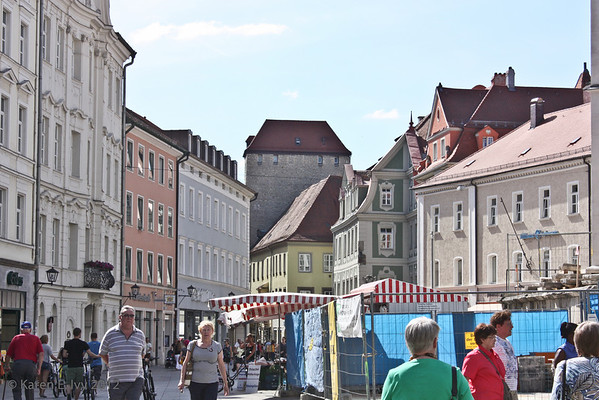 Business section of Regensburg