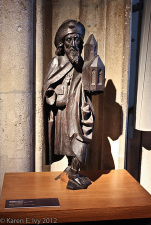 Wooden statue of St. Sebaldus
