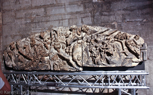 Medieval wall carving