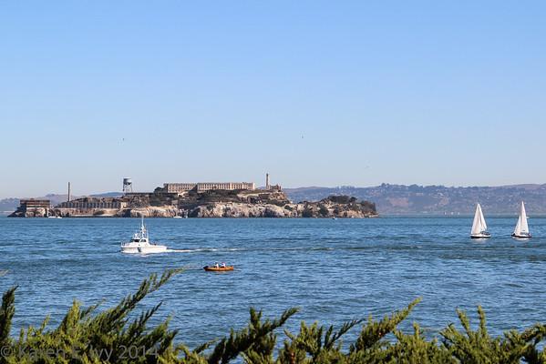 Alcatraz Island and San Francisco Bay, Fleet Week, 2014