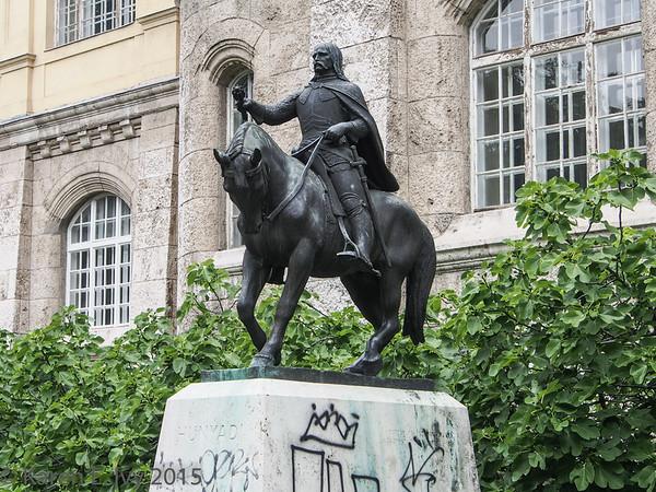 Statue of Janos Hunyadi