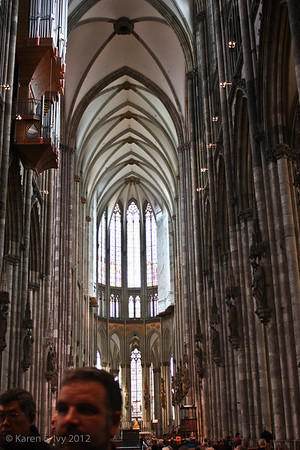 View down the nave, Cologne Dom