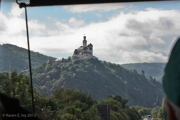 Marksburg castle, from the bus