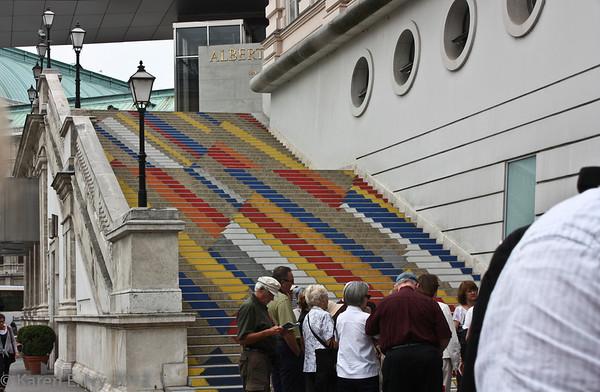 Albertina Museum, stairway