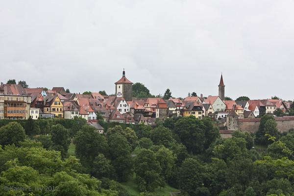 Rothenburg from the Burg Garden